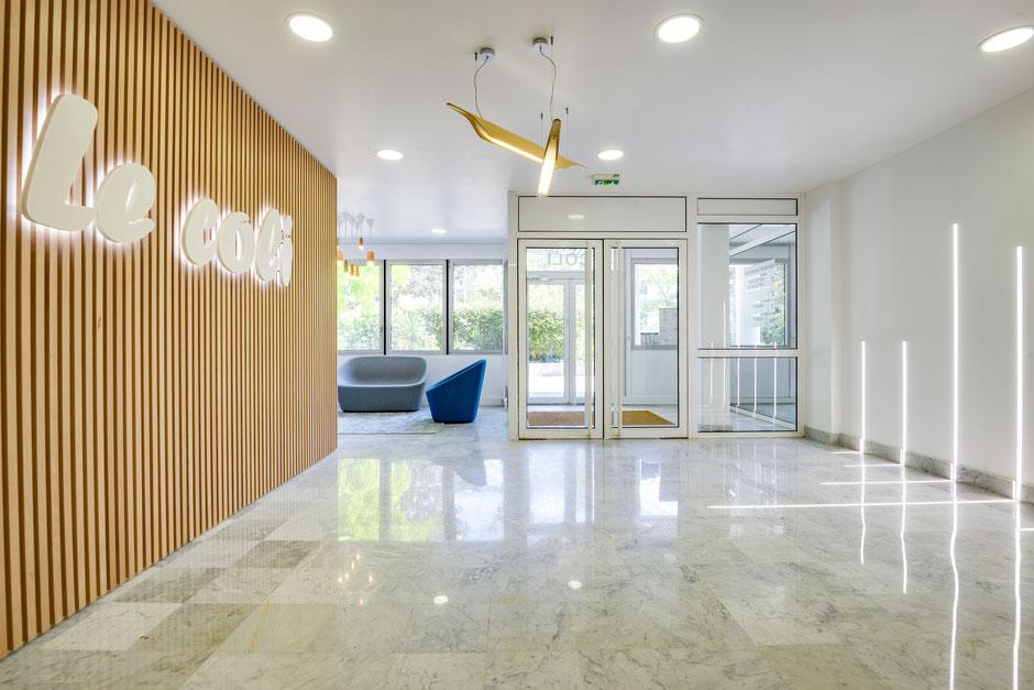 Vélizy - Mission: Mise en valeur du hall d'accueil d'un hôtel d'entreprises, 50m²