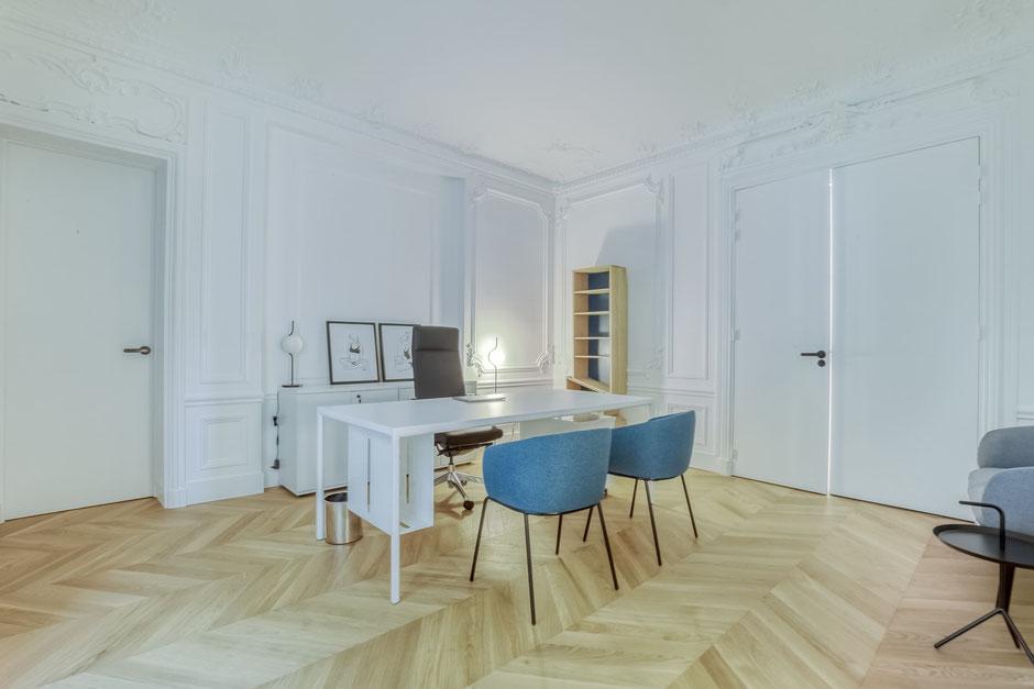 Paris 16ème - Mission: Conception, aménagement et rénovation de l'ensemble des locaux, 110m²