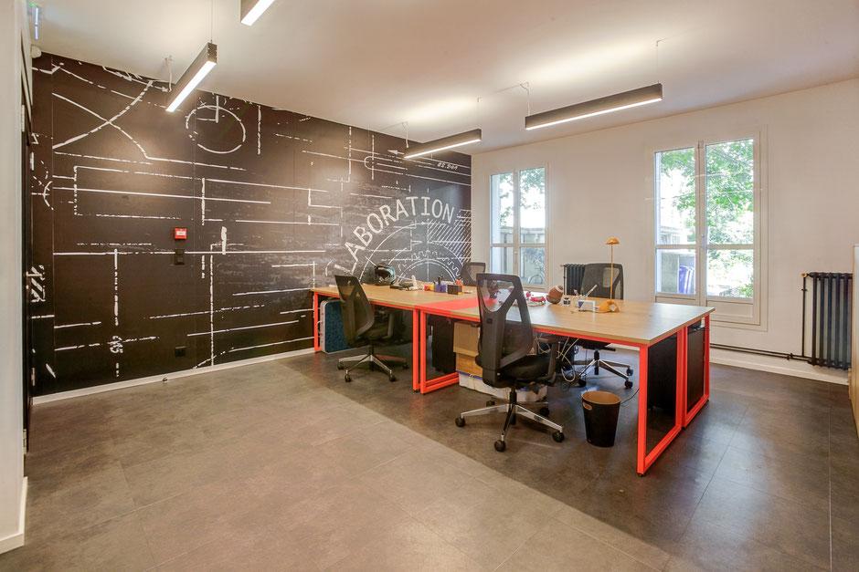 Levallois Perret - Mission: Conception, aménagement et rénovation de l'ensemble des locaux, 70m²