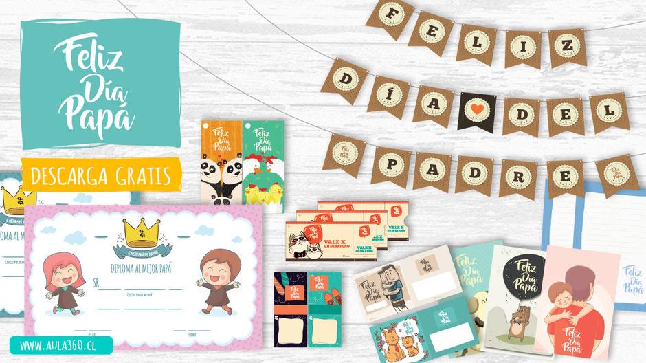 click para descargar recursos dia del padre decoraciones postales gratis aula360