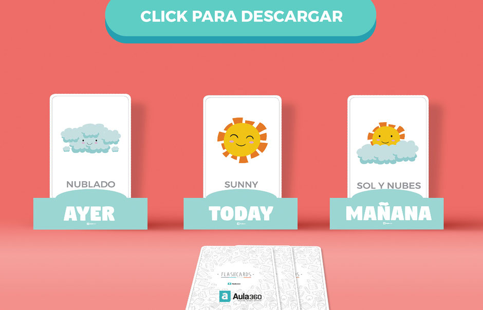 Descarga gratis flashcards clima en español ingles aula360