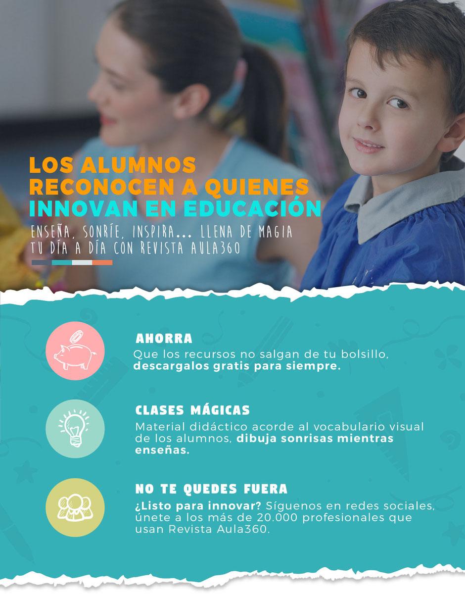 Recursos gratuitos para profesores Revista aula360 los alumnos reconocen a los profesionales innovadores