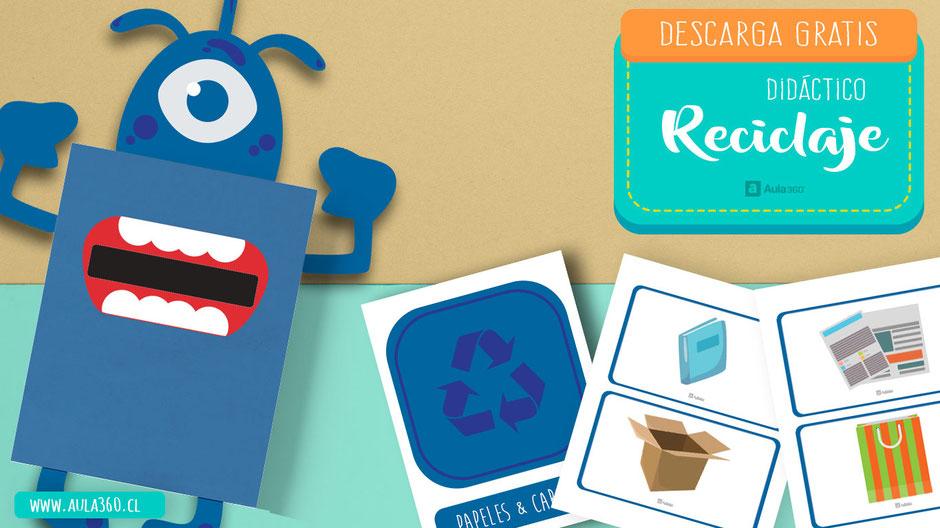 pulsa aqui y descarga didático para enseñar a reciclar a tus alumnos aula360