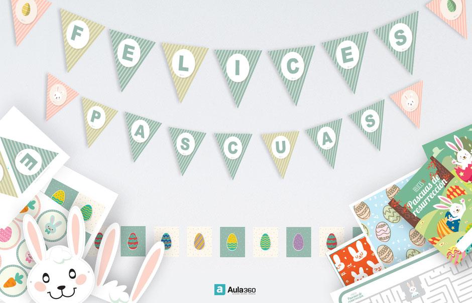 Decoraciones imprimibles pascua de resurrección gratis revista aula360 profesores