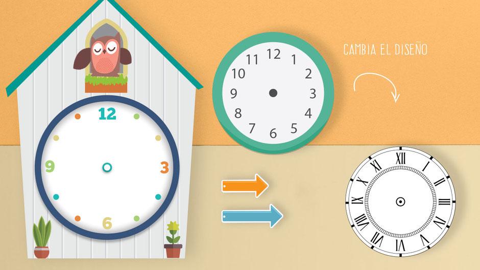relojes didácticos intercambiables para enseñar la hora de manera fácil