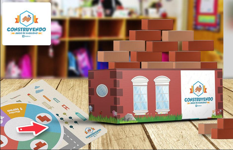 Material didáctico juego construyendo para niños
