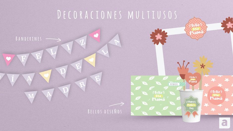 Decoraciones imprimibles gratis aula360 decoraciones día de la madre imprimir visual