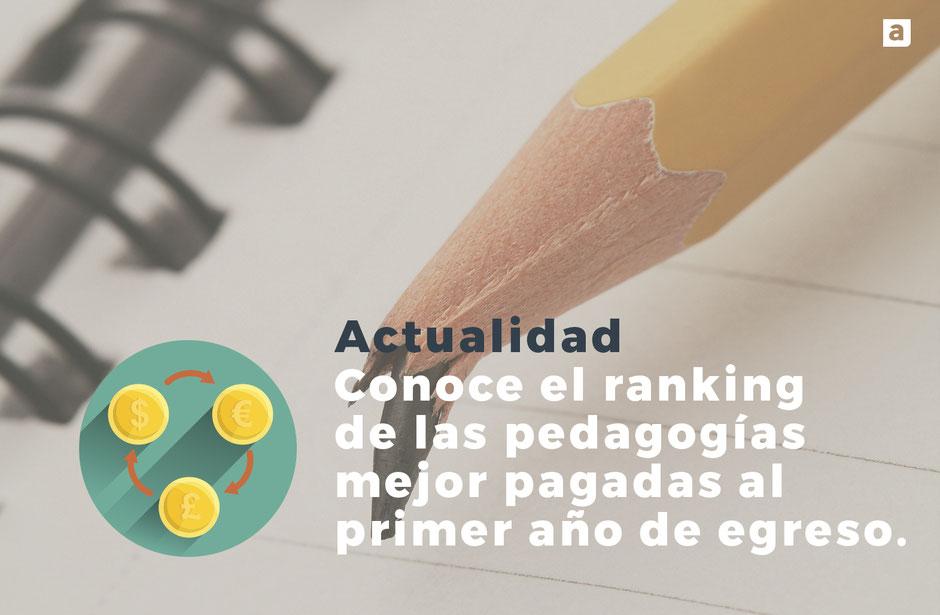 Actualidad: Conoce el ranking de las pedagogias mejor pagadas al primer año de egreso.