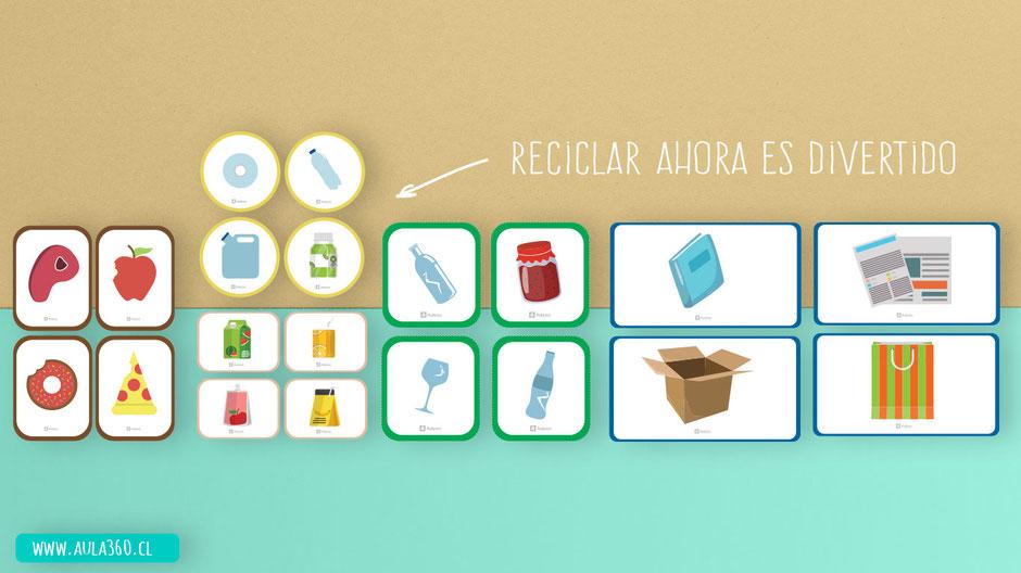 Laminas de categoria de desechos para jugar con los personajes armables en formato pdf