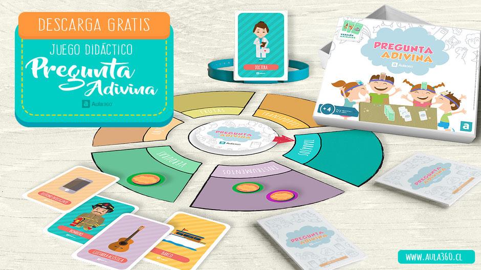 "portada juego "" pregunta adivina"" español ingles gratis para descargar aula360"