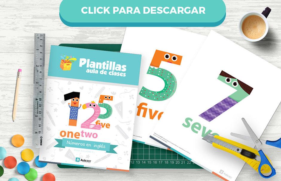 Descarga números ilustrados en ingles para niños
