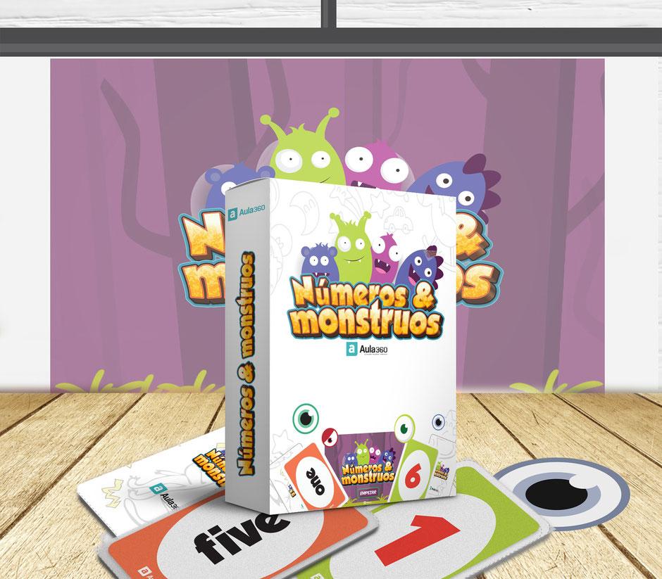 Juego didáctico gratis para imprimir profesores Aula360 números & monstruos