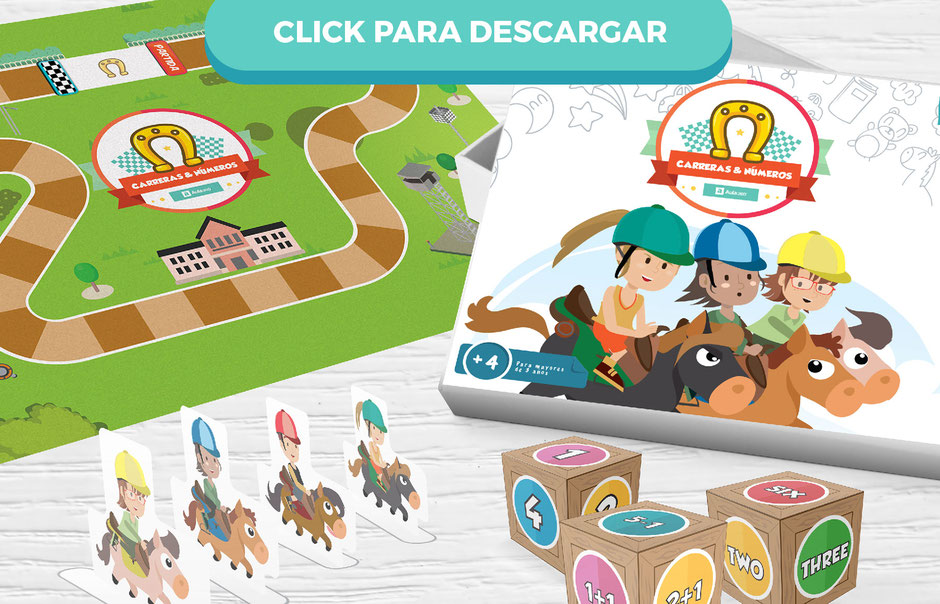 """Descarga gratis el juego en pdf """"Carreras & Números"""" aula360"""