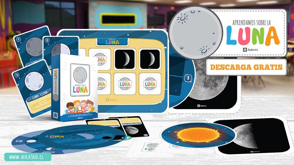 imagen de recurso gratis fases de la luna para imprimir aula360