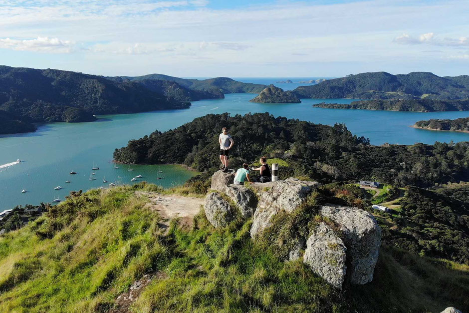Looking at Waitapu Bay and the Whangaroa Harbour from St Paul's Rock - A Great Day Hike in New Zealand