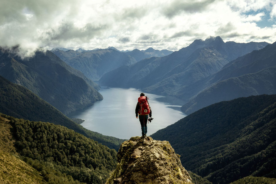 A scenic lookout on the Kepler Track
