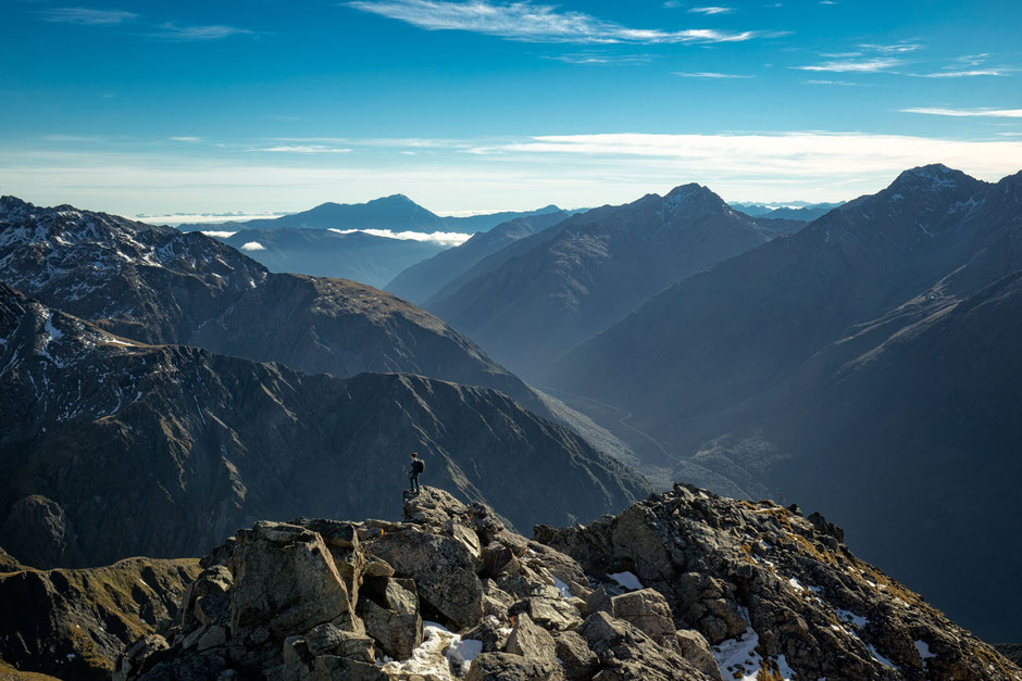 Atop the Avalanche peak in Arthur's Pass National Park