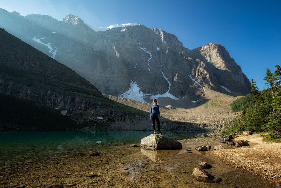 Lake Annette - Paradise Valley Trail near Lake Louise. One of the best day hikes in the area