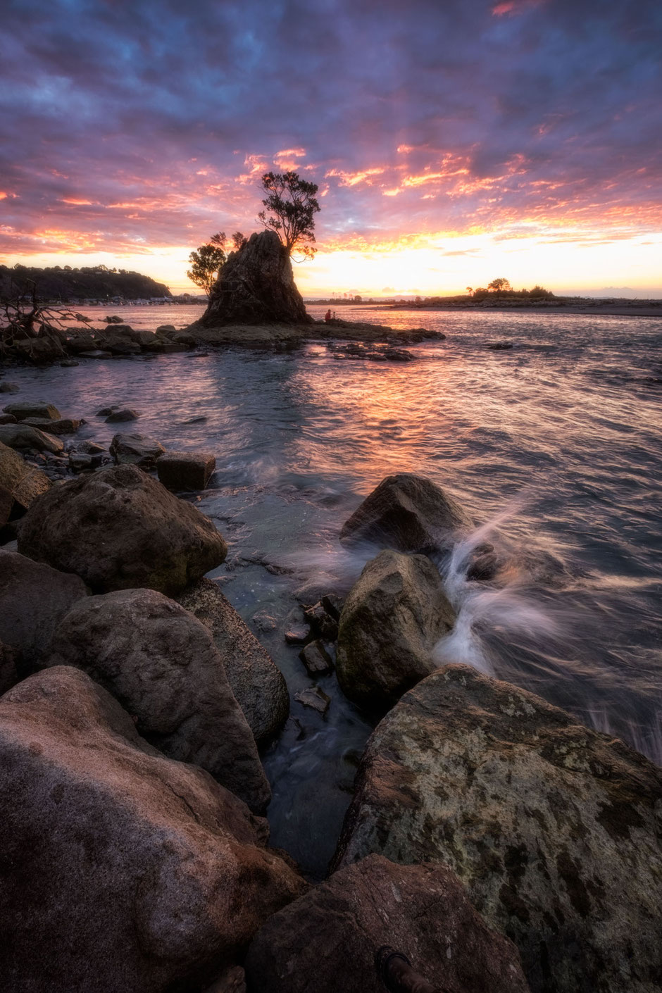 Shoreline in Whakatane, New Zealand - the gateway to White Island.