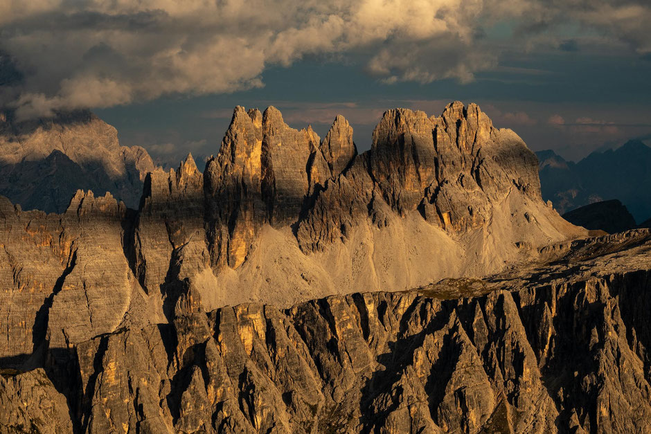 Croda Del Lago as seen from Mount Averau. Via Ferrata Averau in the Italian Dolomites