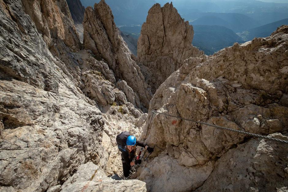 Via ferrata in the Italian Dolomites great for beginners
