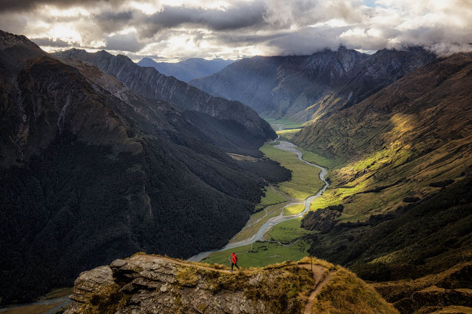 Overlooking the Matukituki Valley on the Cascade Saddle Track