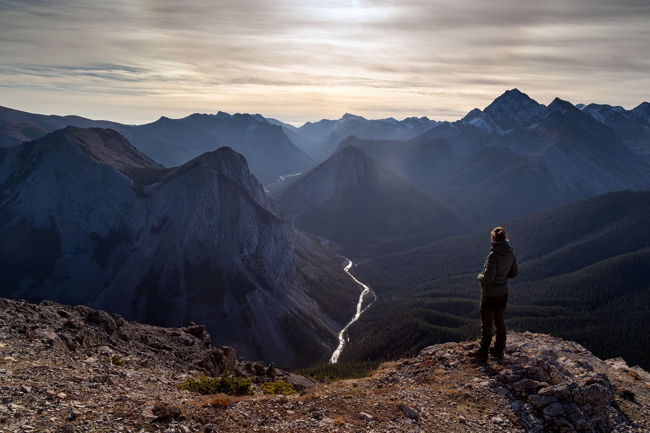 Views from the top of Sulphur Skyline, one of the best hikes in Jasper National Park