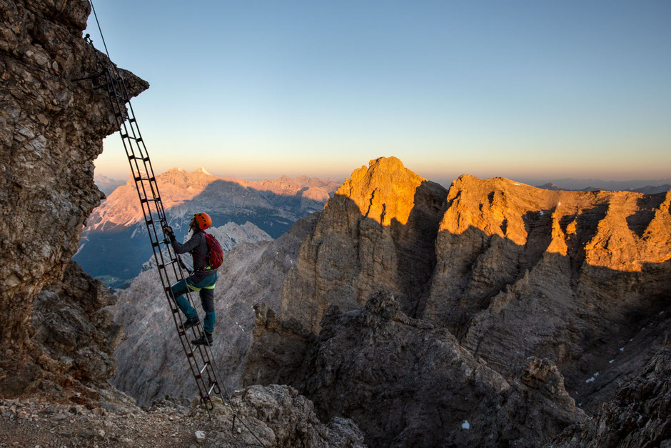 Via ferrata Marino Bianchi in the Italian Dolomites