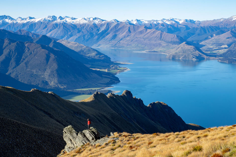 Lake Hawea from Isthmus Peak, New Zealand