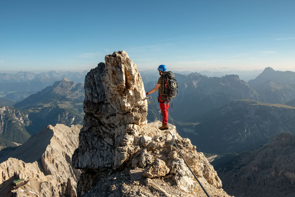 Via ferrata Marino Bianchi - an intermediate iron path in the Italian Dolomites