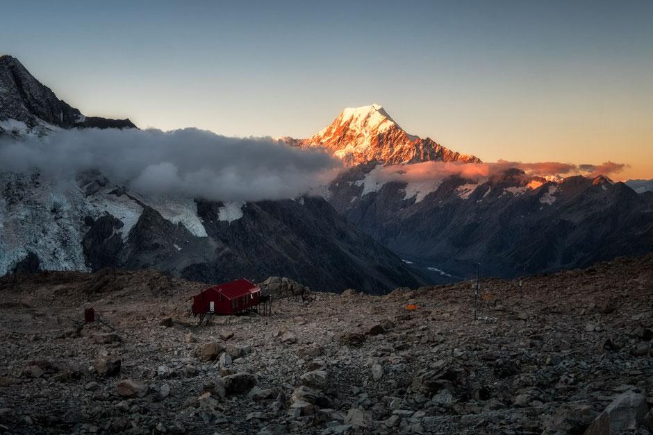 Mueller Hut looking toward Mount Cook - In A Faraway Land