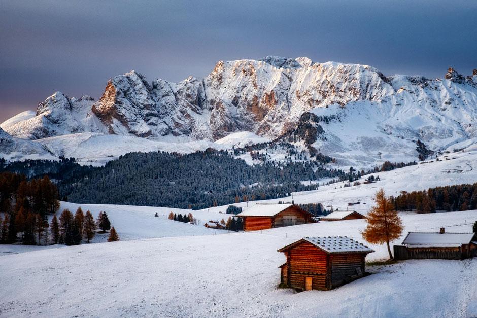 Alpi Di Siusi during autumn