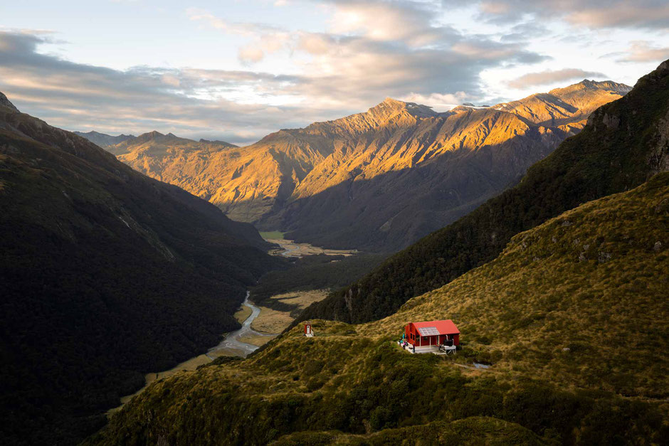 Liverpool Hut in the Matukituki Valley - In A Faraway Land