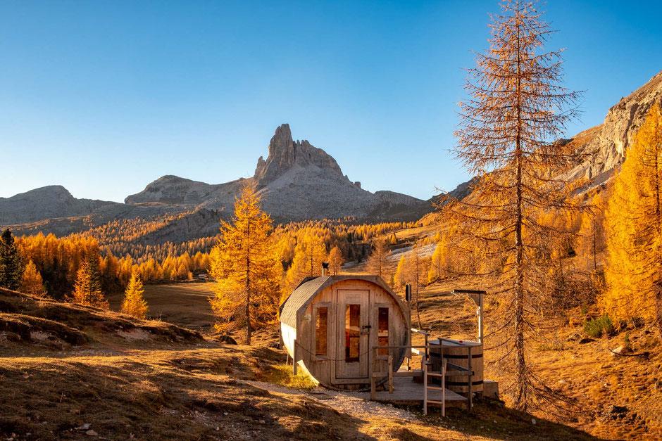 Little Sauna near rifugio Palmieri.