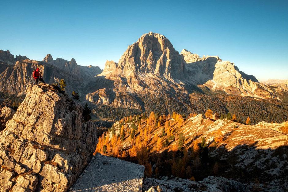Tofana Di Rozes visible from Cinque Torri - Italian Dolomites