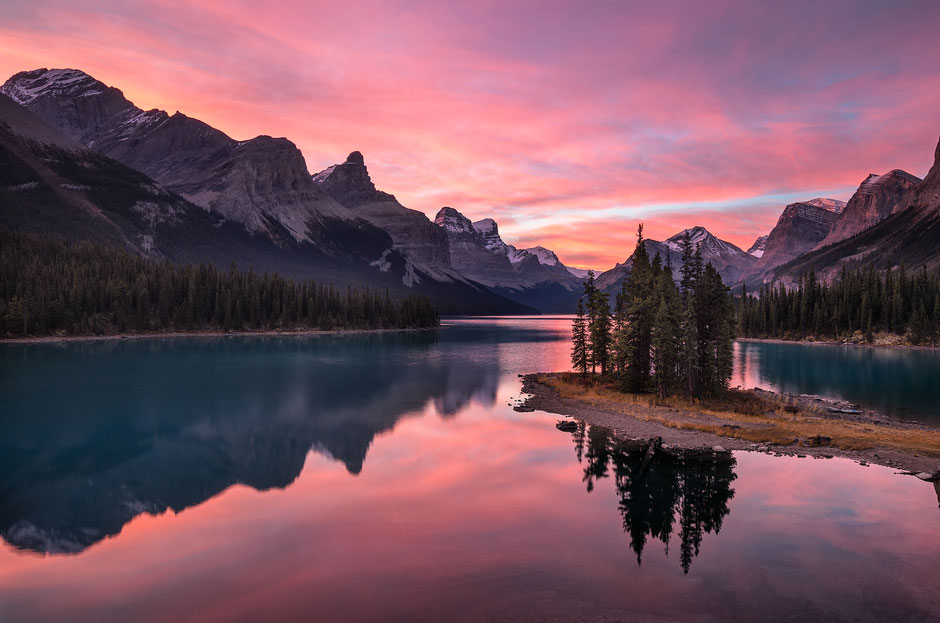 Spirit Island on Maligne Lake - A Road Trip Guide from Vancouver to Calgary Through Canada's Finest Landscapes