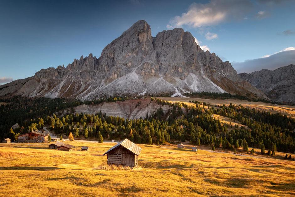 Sass de Putia and Passo delle Erbe in the Italian Dolomites