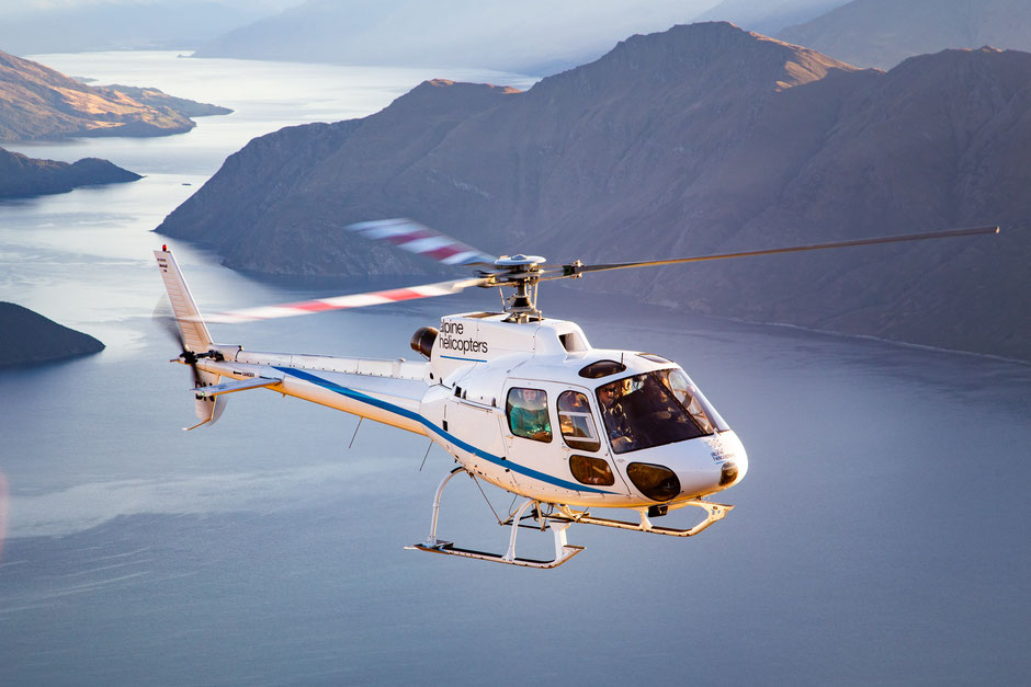 Helicopter flight in Wanaka, New Zealand