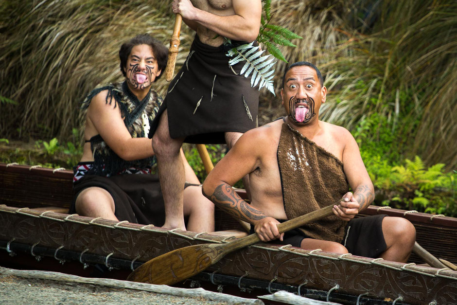 Learning about Maori culture in the Tamaki Maori Village