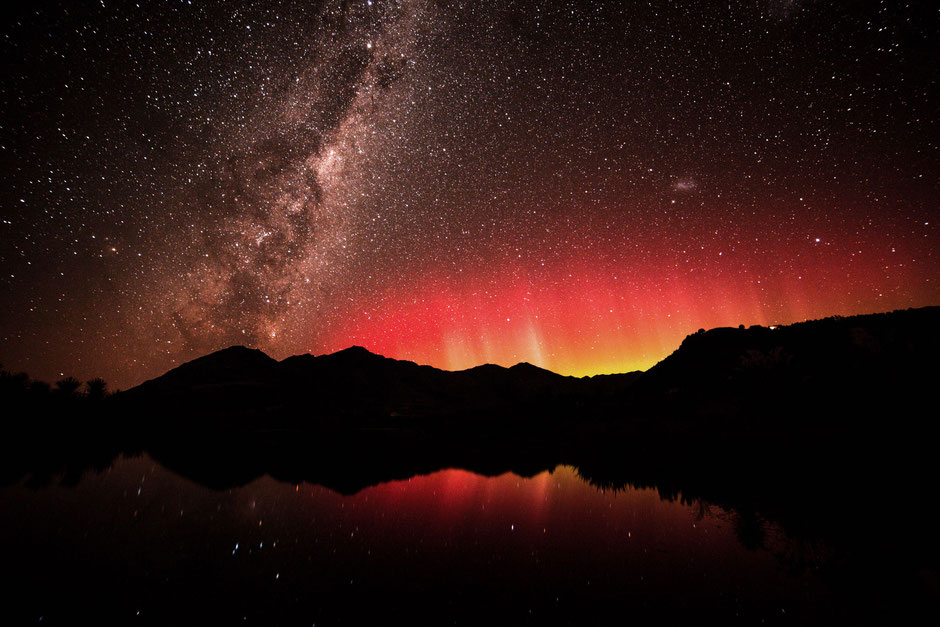 Aurora Australis in Wanaka. Top places to photograph in Wanaka.