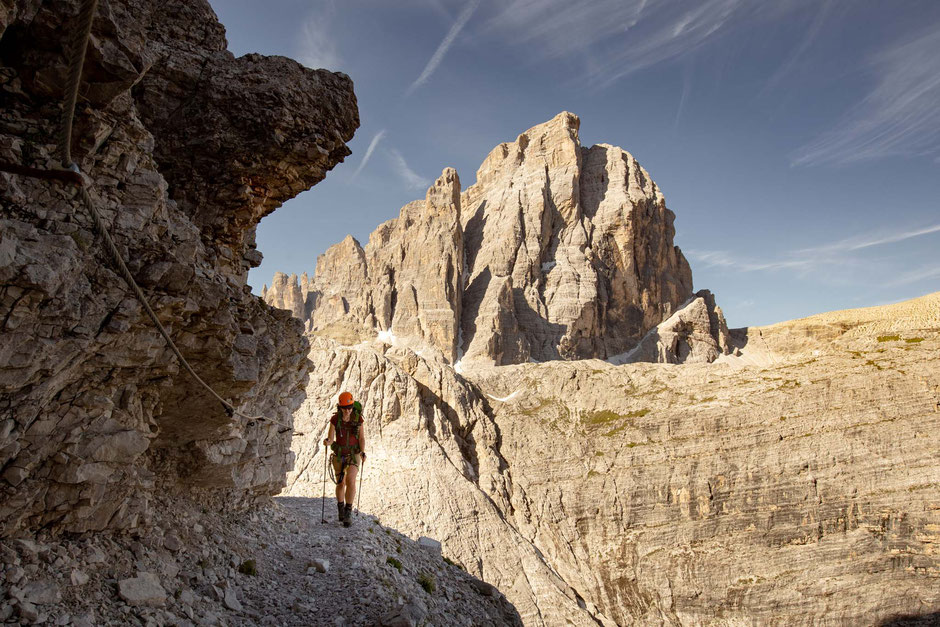 Strada Degli Alpini - a great beginner via ferrata in the Italian Dolomites
