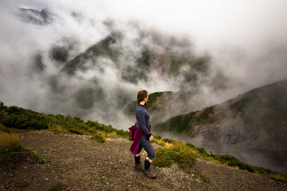 Amongst the Clouds on the Sunrise Track - A Day Hiking Opportunity on New Zealand's North Island