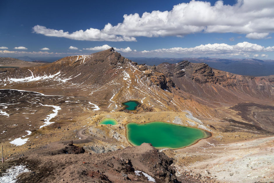 Emerald lakes Tongariro Crossing.