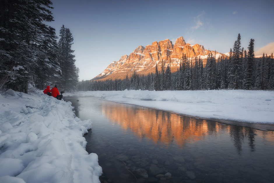 Castle Mountain in Banff National Park, Canada