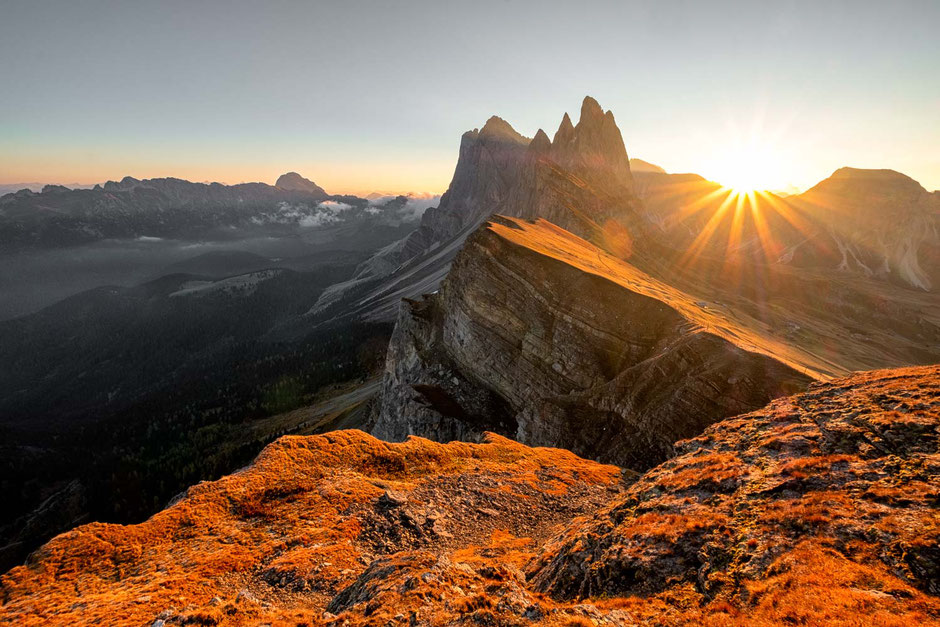 Best Photography Spots in the Italian Dolomites - Seceda Ridgeline.