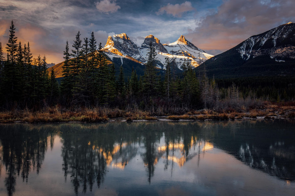 Three sisters guarding Canmore