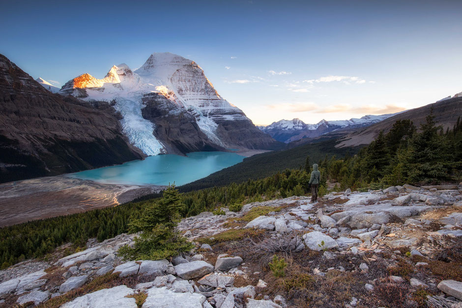 Berg Lake Trail in Mount Robson Provincial PArk in Canada