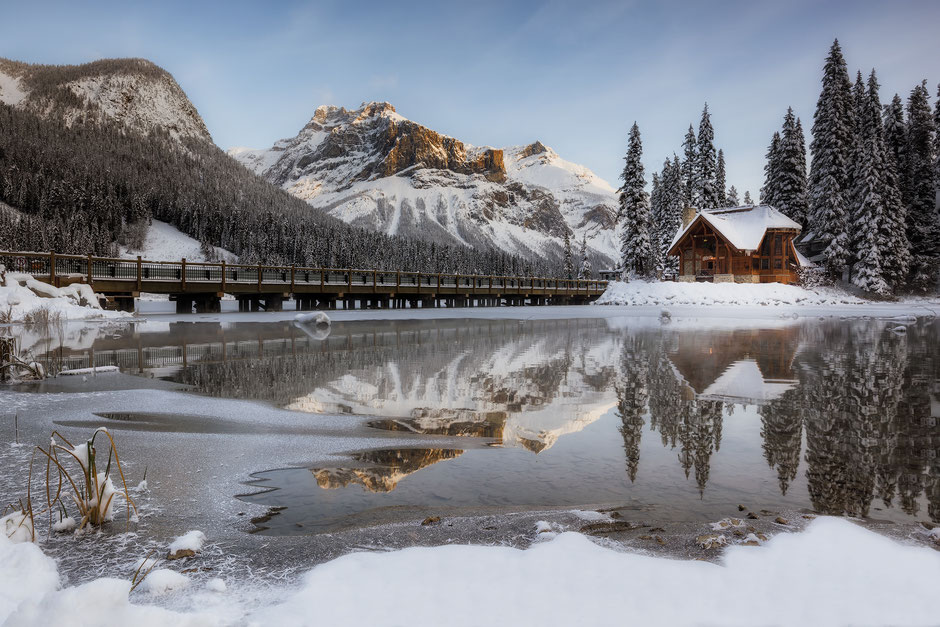 Emerald Lake in Yoho National Park - A Superb Driving Trip Across the Canadian Rockies from Vancouver to Calgary