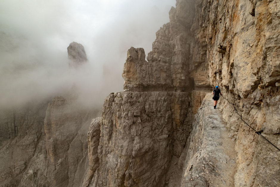 Via ferrata Bocchette Centrali in the Brenta Group of the Italian Dolomites