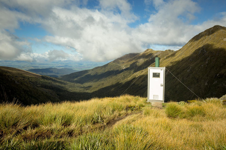An outhouse on the Kepler Track in Fiordland National Park